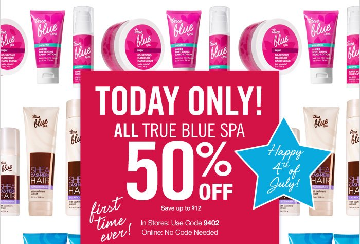 All True Blue Spa – 50% Off