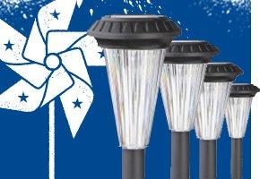 Black Solar-Powered LED Path Lighting
