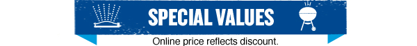 Special Values. Online price reflects discount.