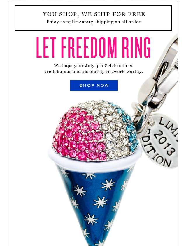 Let Freedom Ring. Show Now.