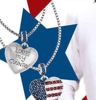 Americana Heart Necklace