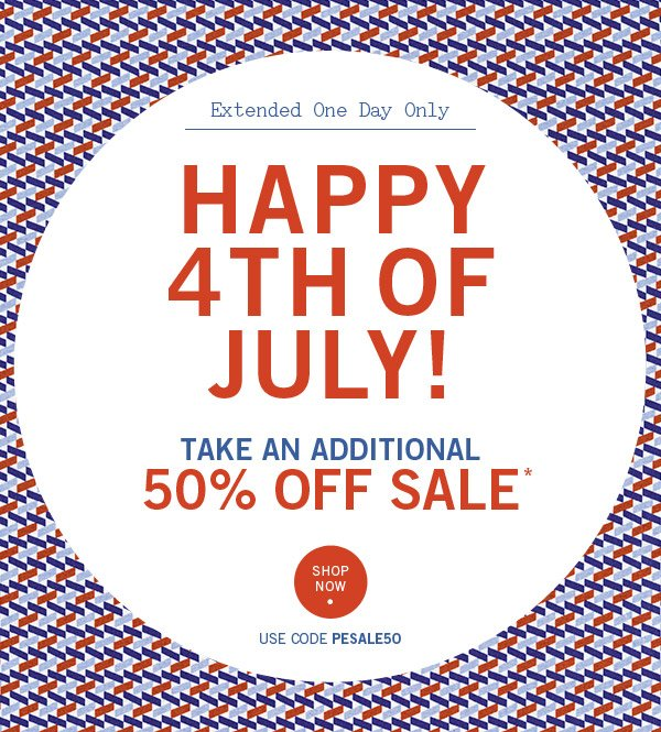 Additional 50% Off Sale Event! Starting Now