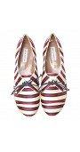 Tie-Striped Flat Espadrille Sneaker