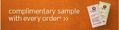 complimentary sample with every order