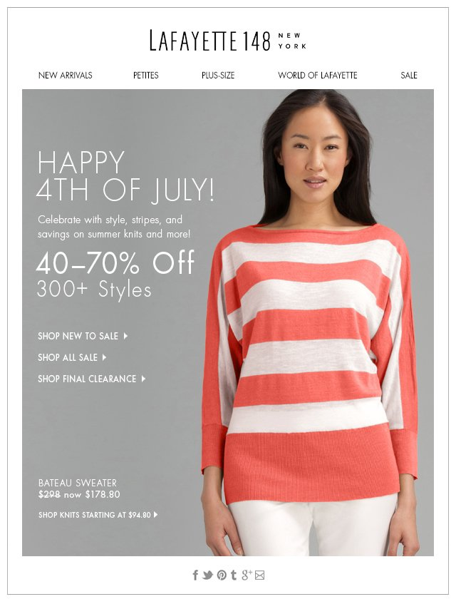 Happy 4th of July! 40-70% Off