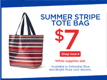 Summer Stripe Tote Bag for $7