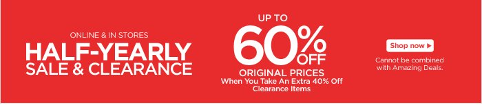 Half-Yearly Sale & Clearance