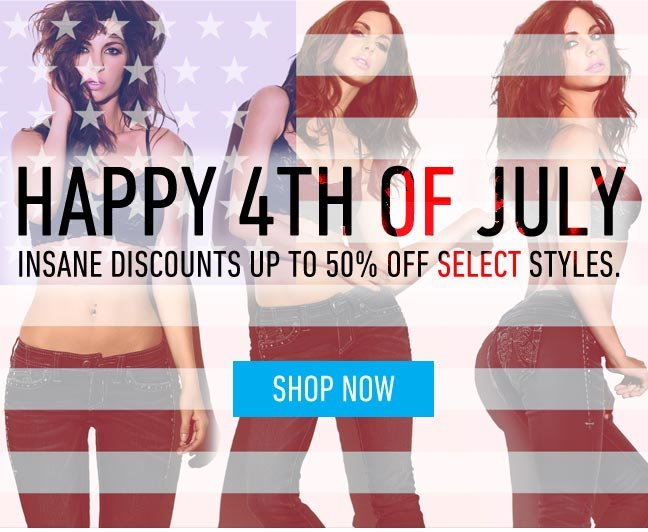 Happy 4th of July – Savings up to 50%