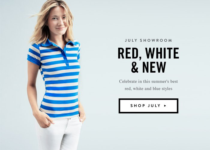July Showroom - Red, White And New