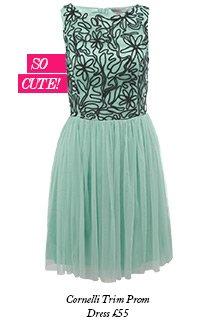 Cornelli Trim Prom Dress