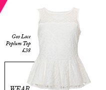 Geo Lace Peplum Top