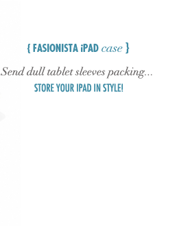 Fashionista iPad Case