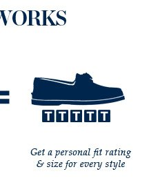 GET A PERSONAL FIT RATING & SIZE FOR EVERY STYLE