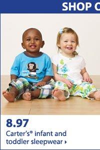 Shop online only Bonus Buys! 8.97 Carter's® infant and toddler sleepwear.