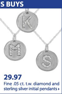Shop online only Bonus Buys! 29.97 Fine .05 ct. t.w. diamond and sterling silver initial pendants.