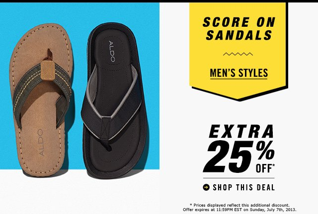 SCORE ON SANDALS EXTRA 25% OFF MEN'S STYLES