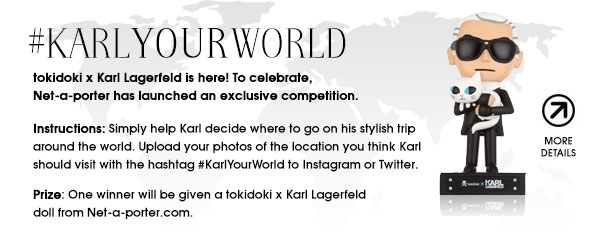 To celebrate the launch of the tokidoki x Karl Lagerfeld collection, there is also a contest! Be sure to enter the #KarlYourWorld contest for your chance to win!