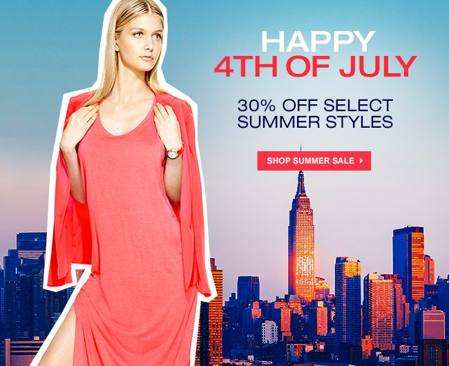 30% OFF SUMMER ENDS TOMORROW