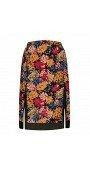 Floral Printed Split Skirt
