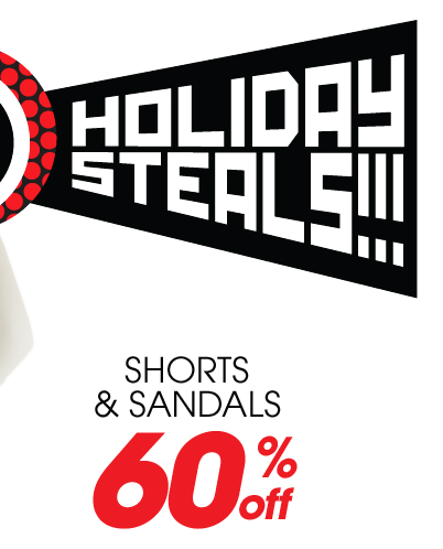 60% Off Shorts and Sandals
