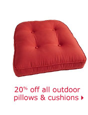 20% off all outdoor pillows & cushions
