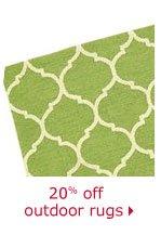 20% off outdoor rugs