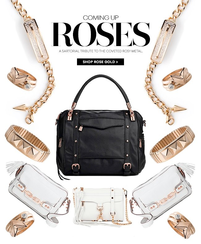 Coming Up Roses: A sartorial tribute to the coveted rosy metal.