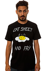 The Eat Sheet and Fry Tee in Black