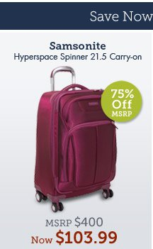 Hyperspace Spinner 21.5 Carry-on. Shop Now.
