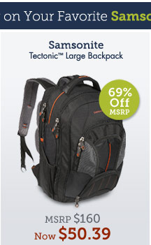 TectonicTM Large Backpack. Shop Now.