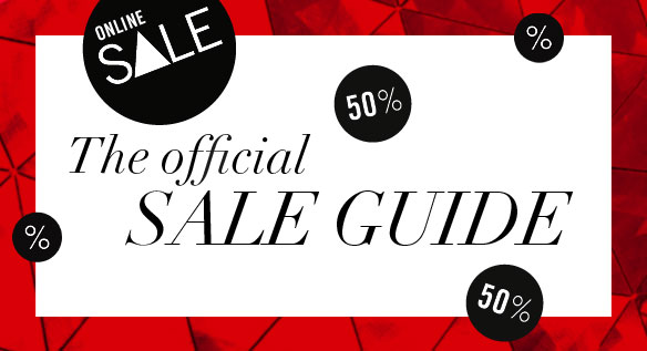 The official SALE GUIDE // Only valid for Australia