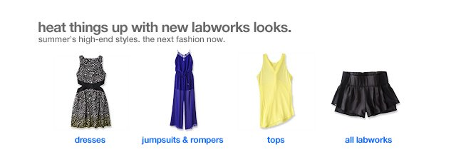 Heat things up with new labworks looks.
