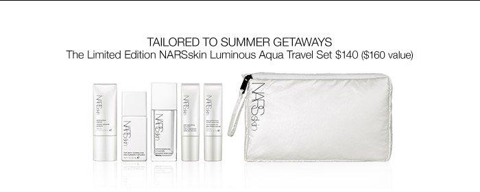 The Limited Edition NARSskin Luminous Aqua Travel Set.