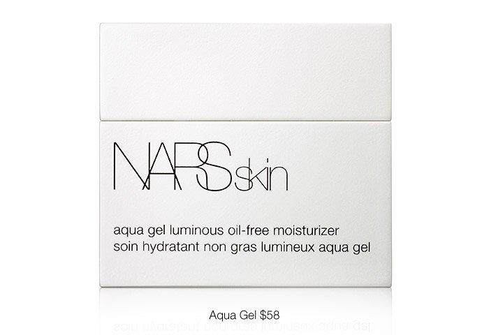 Experience the weightless aqua-rich gel-cream texture of NARSskin Aqua Luminous Moisturizer.