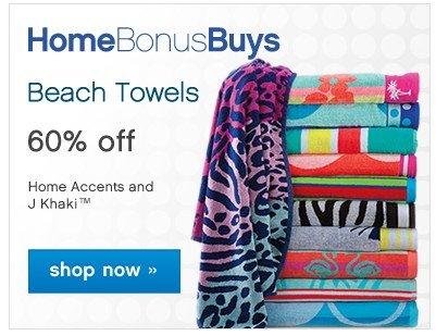 HomeBonusBuys. Beach Towels 60% off. Shop now.