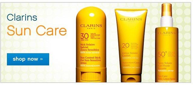 Clarins Sun Care. Shop now.