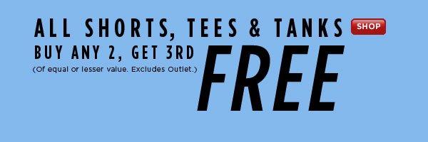 SHOP  Shorts, Tees & Tanks Sale