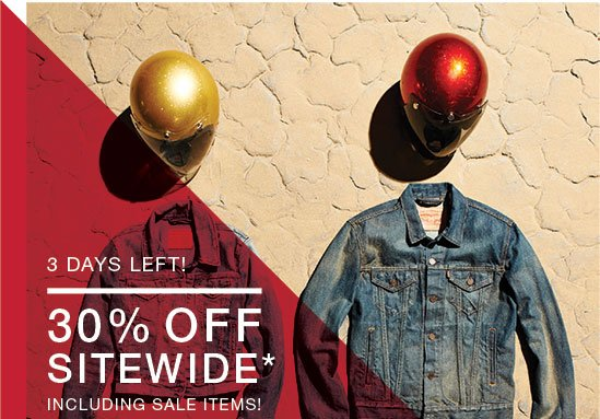 3 days left! 30% Off sitewide* - Including sale items!