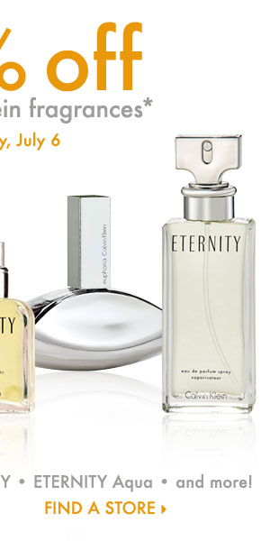 Today Only! 20% off all Calvin Klein fragrances* Find a store.