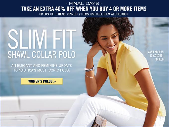 Shop Women's Shawl Collar Polo!