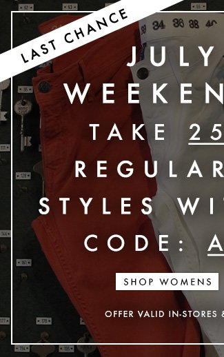 25% Off Womens