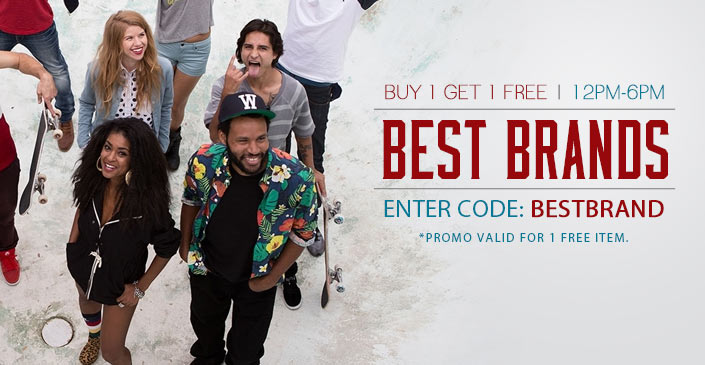 Best Brands: Buy 1, Get 1 Free