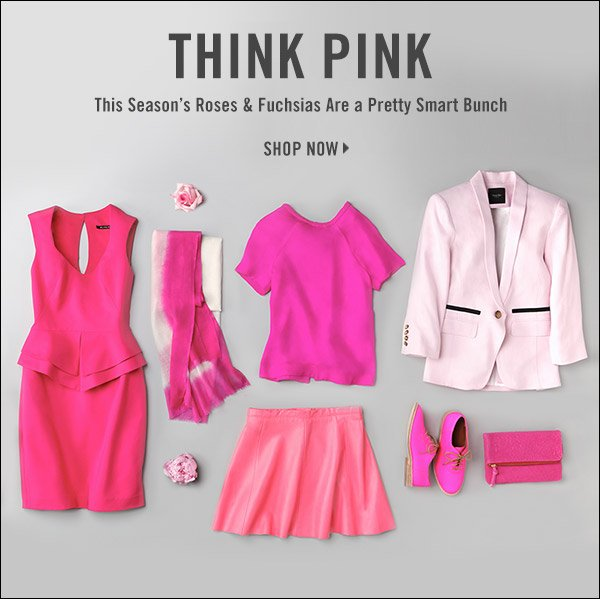 Rethink pink! Sharp tailoring and avant-garde attitude make this season's roses and fuchsias a pretty smart bunch. Shop now >>