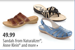 Use your coupon to save even more on summertime essentials. 49.99 Sandals from Naturalizer®, Anne Klein® and more.