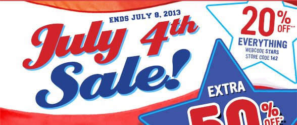 July 4th Sale - 20% Off!