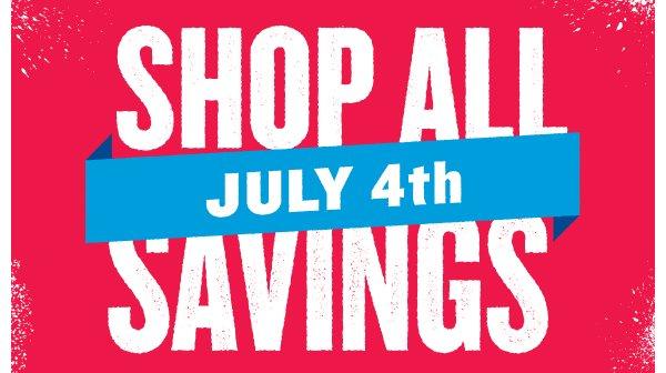 SHOP ALL JULY 4th SAVINGS