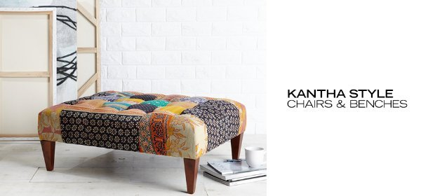 KANTHA STYLE CHAIRS & BENCHES, Event Ends July 10, 9:00 AM PT >