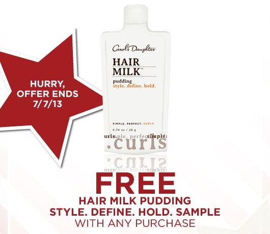 FREE Hair Milk Pudding Sample