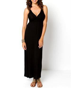 Beestango Solid V-Neck Dress