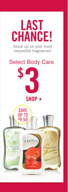 Select Body Care – $3